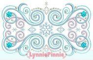 Flourish Frame 6 Embroidery Design 4x4 5x7 6x10 6