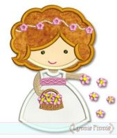 Flower Girl Cutie Applique 4x4 5x7 6x10 SVG