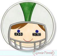 Bible Verse Football Helmet Boy 4x4 5x7 6x10 7x11