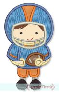 Little Football Player Applique 1 4x4 5x7 6x10