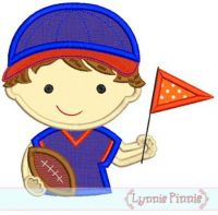 Boy Football Fan Applique 4x4 5x7 6x10 7x11