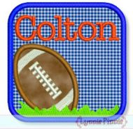 Football Frame Applique 4x4 5x7 6x10 7x11