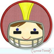 Football Helmet Boy 4x4 5x7 6x10 7x11