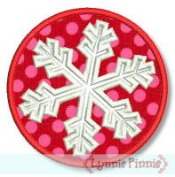Snowflake with Frame Zig Zag & Satin 4x4 5x7 6x10