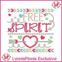 Free Spirit Tribal Arrows Word Art Applique 4x4 5x7 6x10 7x11