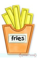 French Fries Applique