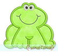 Frog Applique 4x4 5x7 6x10