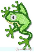 Tree Frog Applique 4x4 5x7
