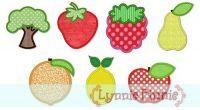Simple Fruit Applique Set 4x4 5x7