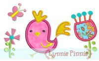 Funky Chicken Applique Set 4x4 5x7