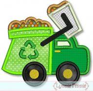 Garbage Truck Applique 4x4 5x7 6x10 7x11