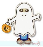 Cute Ghost Costume Kid 4x4 5x7 6x10