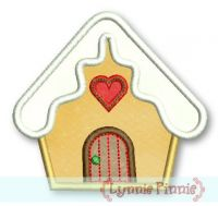 Applique Gingerbread House 4x4 5x7 6x10
