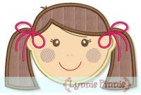 Little Faces - Girl 1 Applique 4x4 5x7 6x10