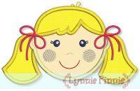 Little Faces - Girl 2 Applique 4x4 5x7 6x10