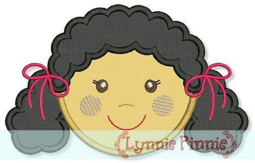 Little Faces - Girl 3 Applique 4x4 5x7 6x10