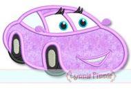 Happy Girl Car Applique 4x4 5x7 6x10 SVG