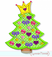 Girly Princess Christmas Tree 4x4 5x7 6x10 7x11