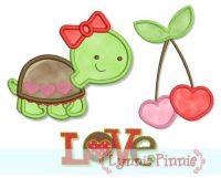 Sweet Valentine Applique Set