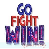 GO FIGHT WIN Applique 4x4 5x7 6x10