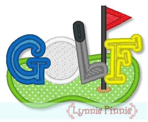 Golf Applique 4x4 5x7 6x10 Welcome To Lynnie Pinnie Instant