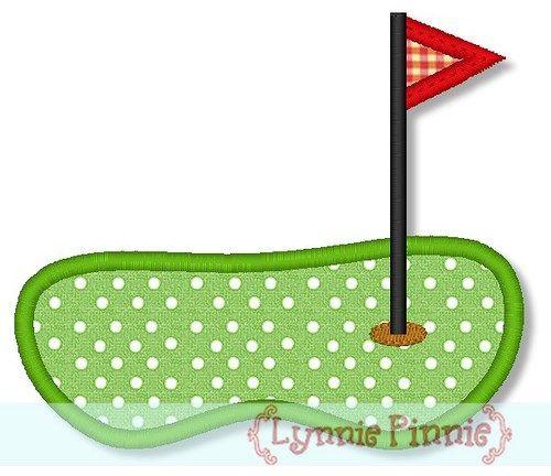 Golf Green w/ Flag Applique 4x4 5x7 6x10