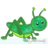 Grasshopper Applique 4x4 5x7 6x10 7x11 SVG