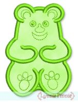 Gummy Bear Applique 4x4 5x7