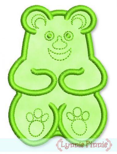 Gummy Bear Applique 4x4 5x7