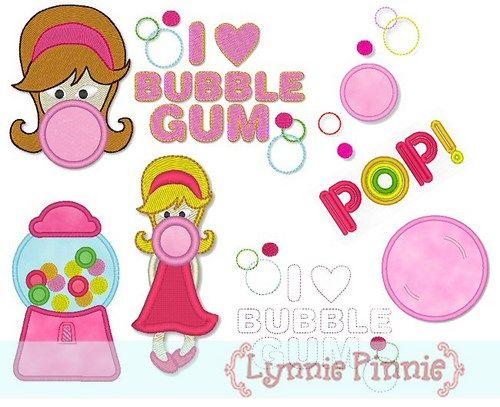 Applique Bubblegum Fun Set 4x4 & 5x7