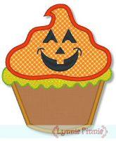 Halloween Cupcake Applique 1 4x4 5x7