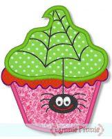 Halloween Cupcake Applique 3 4x4 5x7