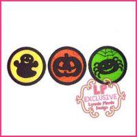 Halloween Icon Circles Applique 4x4 5x7 6x10 7x11 SVG