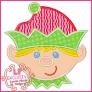 Happy Elf Boy Applique 4x4 5x7 6x10 7x11 SVG