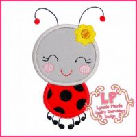 Happy Ladybug 2 Applique 4x4 5x7 6x10 7x11 SVG