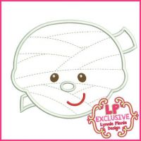 Happy Mummy Applique 4x4 5x7 6x10 7x11 SVG