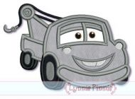 Happy Tow Truck Applique 4x4 5x7 6x10 SVG