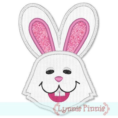 Happy Bunny Applique 4x4 5x7