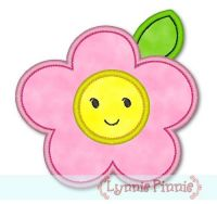 Applique Happy Flower 4x4 & 5x7