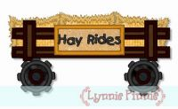 Hayride Wagon Applique 4x4 5x7 6x10