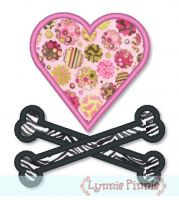 Heart & Crossbones Applique