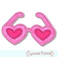 Applique Heart-Shaped Sunglasses 4x4 & 5x7