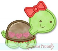 Love Turtle Applique 4x4 5x7