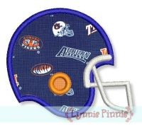 Football Helmet Applique 4x4 5x7 6x10