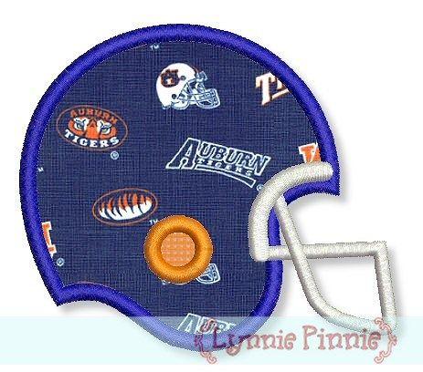 Football Helmet Applique 4x4 5x7 6x10