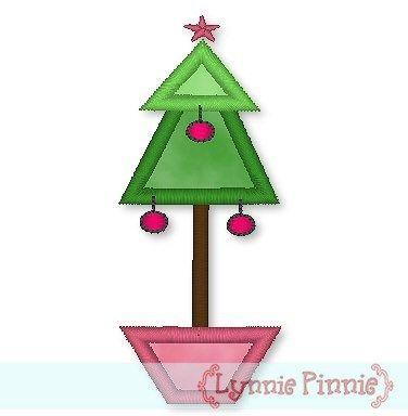 Applique Christmas Tree Planter 4x4 5x7 Welcome To Lynnie Pinnie