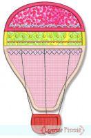 Fancy Hot Air Balloon Applique 4x4 5x7