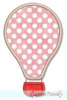 Simple Hot Air Balloon Applique 4x4 5x7
