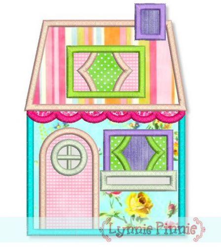 Cottage House Applique 4x4 5x7 6x10