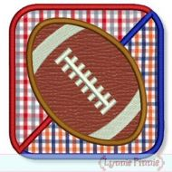 House Divided Football Square Applique 4x4 5x7 6x10